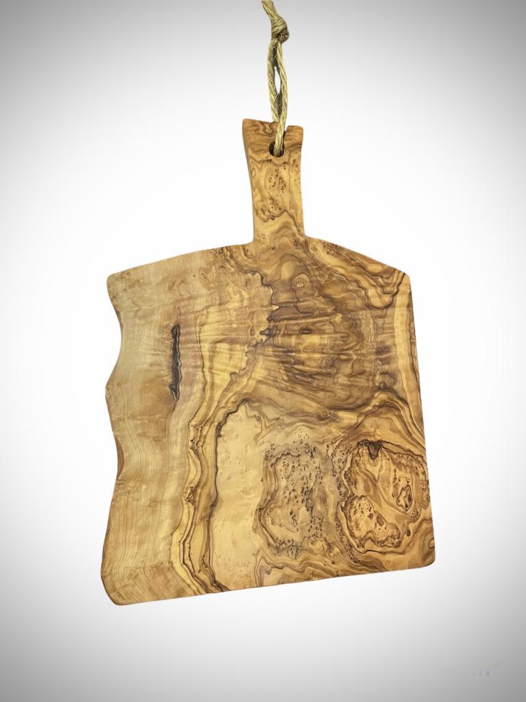Tagliere in legno di olivo 30x20 h.200 mm