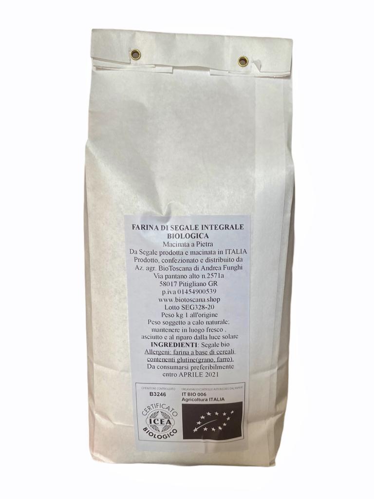 Farina di Segale integrale conf, da 1 kg